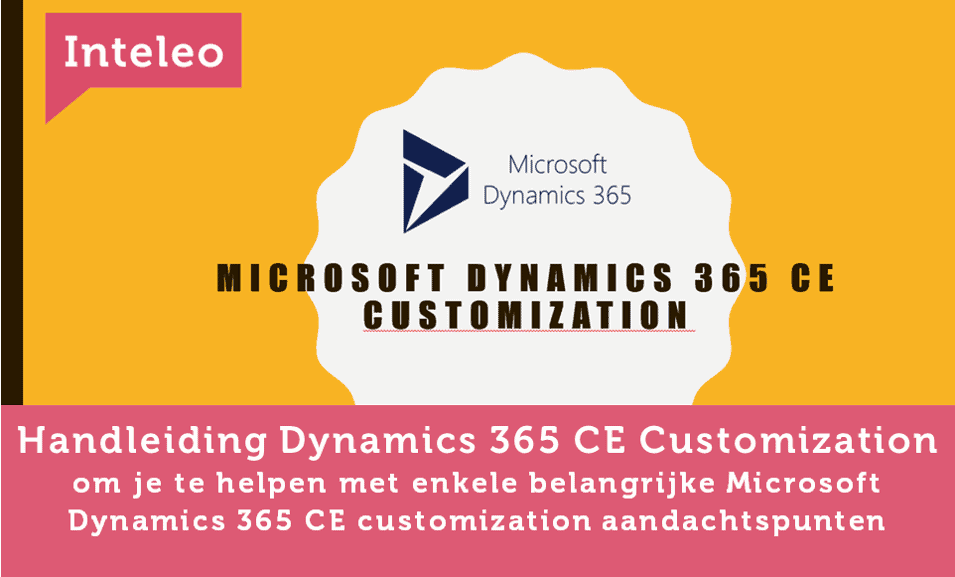 handleiding dynamics 365 ce customization inteleo