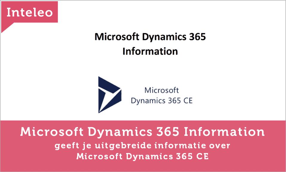 microsoft dynamics 365 ce information inteleo