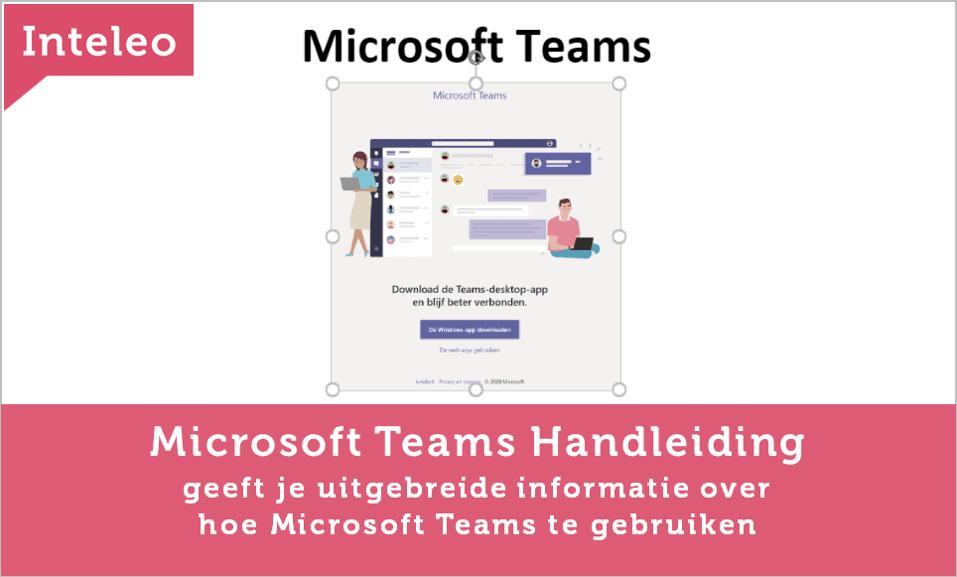 handleiding microsoft teams inteleo